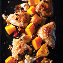 Chicken and butternut roast