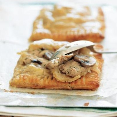 Chicken and mushroom turnovers