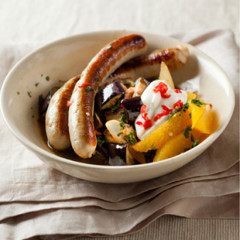 Chicken-sausage tagine