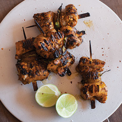 Chicken skewers with apricot and tamarind | Woolworths TASTE