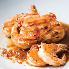 Chilli-and-ginger prawns