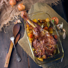 Chilli-and-orange roast leg of lamb
