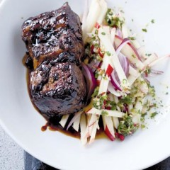 Chilli and soya roasted short ribs with apple slaw