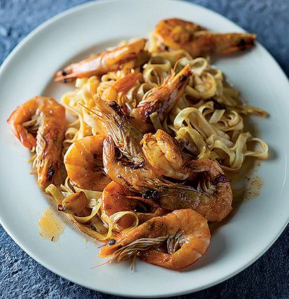 chilli saffron prawn pasta woolworths taste