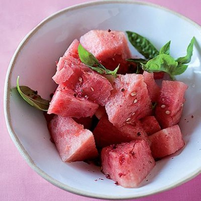 Cinzano-soaked watermelon