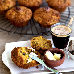 Citrus and date muffins