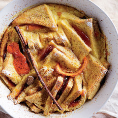 Citrusy bread-and-butter pudding