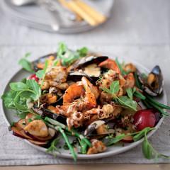 Citrusy seafood salad