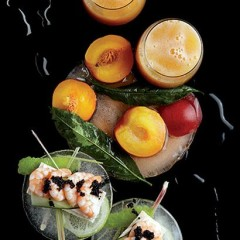 Classic Bellinis with prawn and cucumber sandwiches