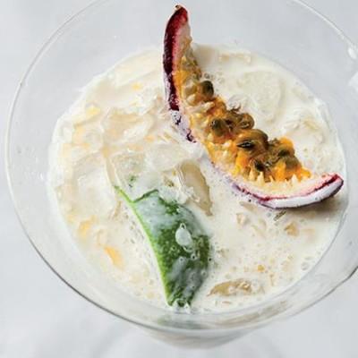 Coconut-and-rum granadilla cocktail