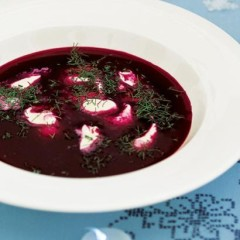 Cold beetroot soup