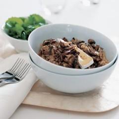 Cold mushroom risotto