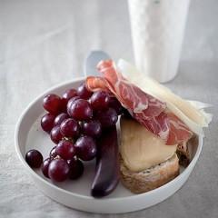Coppa and creamed honey antipasti platter