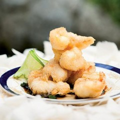 Crayfish tempura with an Asian dipping sauce