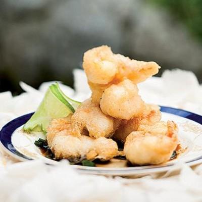 Crayfish tempura with an Asian dipping sauce