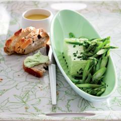 Creamy asparagus terrine with mustard vinaigrette