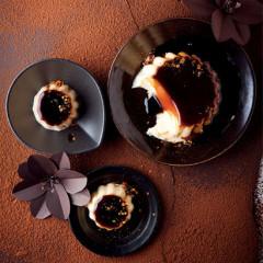 Creme caramel dessert with chilli flakes
