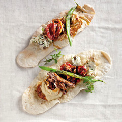 Crisp flatbreads with toasted sumac butter