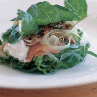 Crispy spinach sandwich