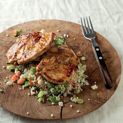 Cumin and garlic chicken couscous