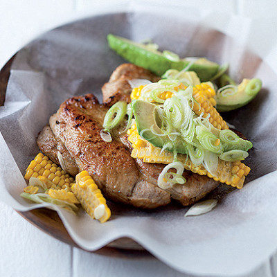 Cumin and lemon pork chops and corn salsa   Woolworths TASTE