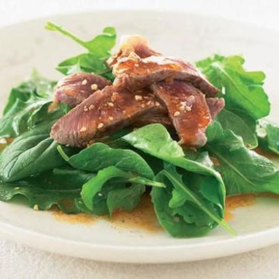 Dukkah lamb salad