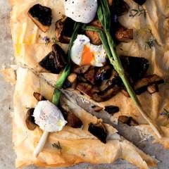 Eggy mushroom tart