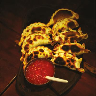 Empanadas with hot sauce