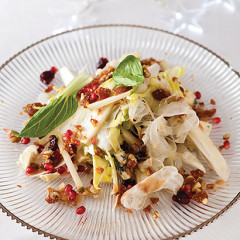 Endive, fennel, celery and blue cheese salad