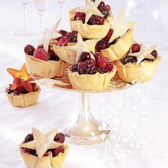 Festive berry cups