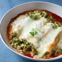 Feta and broccoli cannelloni