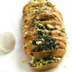 Feta, artichoke, lemon and spring-herb bread