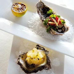 Fire-and-ice oysters