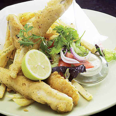 Fish n chips with home-made tartar sauce