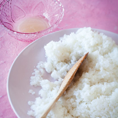 Fluffy white sushi rice