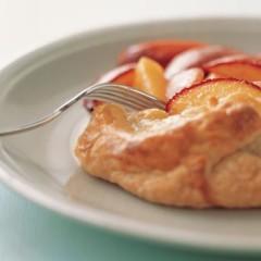 Free-form nectarine tart