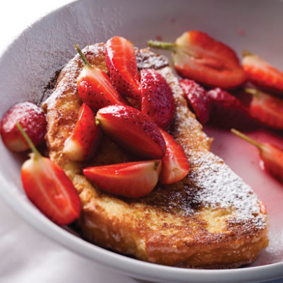 French toast with fresh strawberries in rose sugar syrup | Woolworths ...