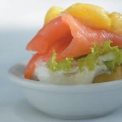 Frittata with smoked salmon