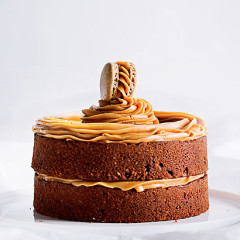 Gluten-free chocolate-and-hazelnut cake with peanut butter icing