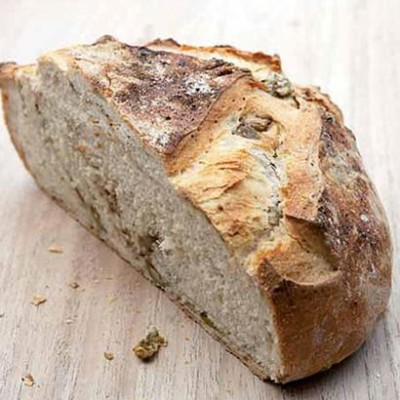 Green olive and porcini dust country loaf