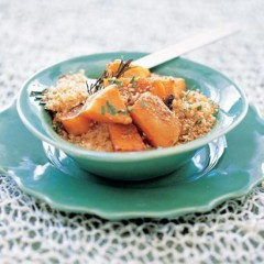 Grilled butternut on toasted couscous