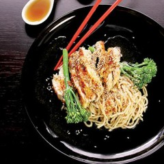 Grilled citrus chicken with sesame noodles