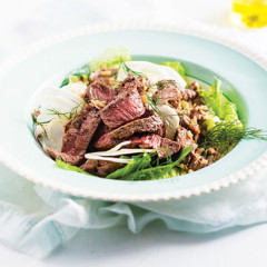 Grilled lamb, fennel and quinoa salad