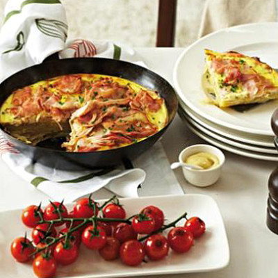 Ham and potato gratin