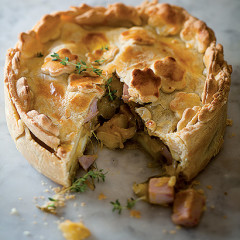 Ham, apple and sweet potato pie