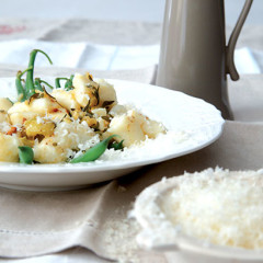 Handmade gnocchi with burnt butter and garlic glaze