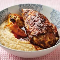 Harissa chicken with hummus