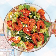 Harissa prawn salad