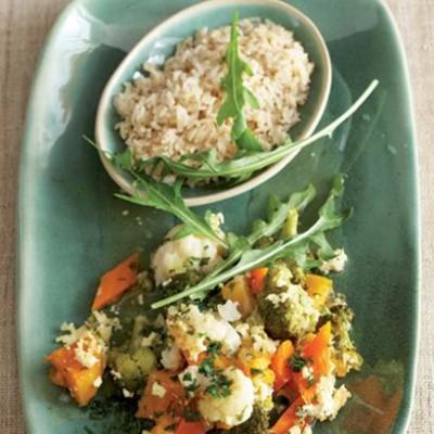Herbed vegetable and feta bake