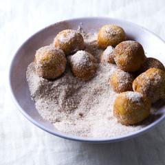 Home made cinnamon sugar doughnuts